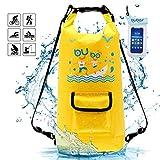 BUBOS Sac étanche, Sacs Rafting Durable imperméable 15 litres Sac à Sec avec Le téléphone...