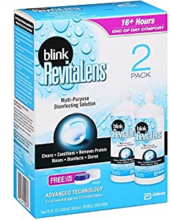 Blink RevitaLens Multi-Purpose Disinfecting Solution, Two 2 oz by RevitaLens