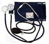 Esfigmomanómetro aneroide Valuemed para medir la presión arterial + estetoscopio de doble cabeza + funda + 3 puños