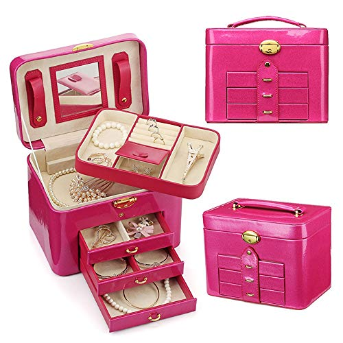 Trousse de Maquillage Multifonction Portable Maquillage Voyage Cosmétique Sacs Trousse De Toilette Pour Ados Filles Femme Artistes pour les Voyages d'affaires et le Tourisme ( Color : Rose red )