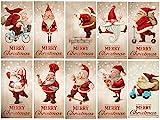 Edition Colibri (11051-95) Lot de 10cartes de Noël amusantes, avec motifs assortis, au format A6 (14,8x10,5cm), style vintage