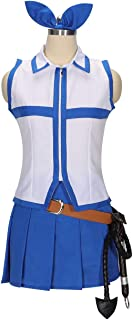 Women's Fairy Tail Lucy Dress Cosplay Costumes and Whip