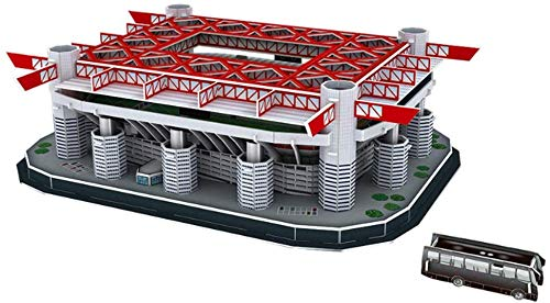 WPLHH Paper 3D Puzzles,Stadio San Siro(Italy) Building Sets 3D Construction Toys Model Kits,Educational Toy for Kids and Adults,Gift for Boys and Girls