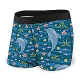 Lindo De Dibujos Animados Delfines En Agua Azul Para Hombre Boxer Calzoncillos Ropa Interior Ropa Interior Pantalones Cortos Tramo Suave Boxers Troncos