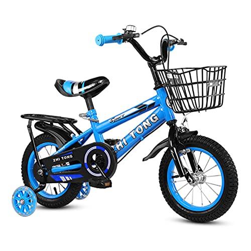 Kstyhome 14.12.16 Zoll Kinder Fahrrad Jungen Mädchen Kleinkind Fahrrad Höhenverstellbares Kinderfahrrad mit abnehmbarem Korb für 2-7 Jahre