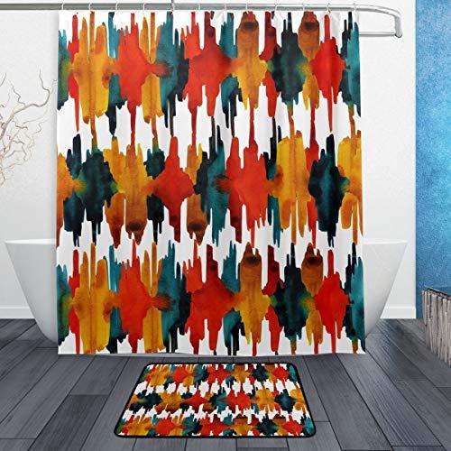 cortinas de baño mosaico