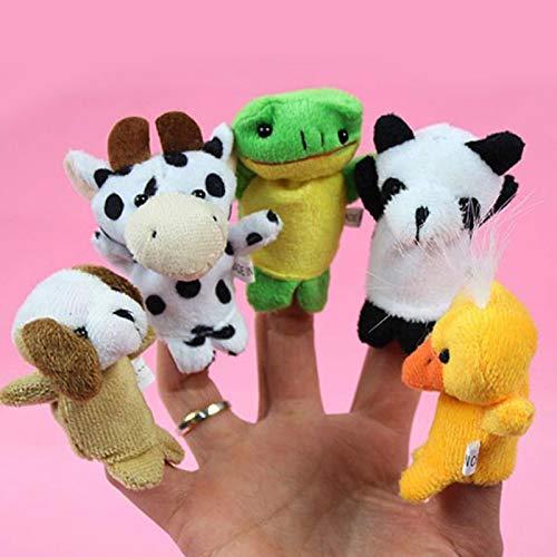 MAyouth 10 Tierfingerpuppe gesetzt kleine Plüschspielzeugtierhandpuppe für Kinder Kinder Parteibevorzugungen Geburtstagsparty Tasche Füllstoffe