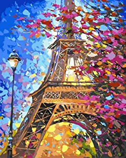 Large 5D Diamond Painting Kits for Adults Kids 20x16Inch/50x40cm Full Drill Embroidery Dotz by TOCARE,Eiffel Tower
