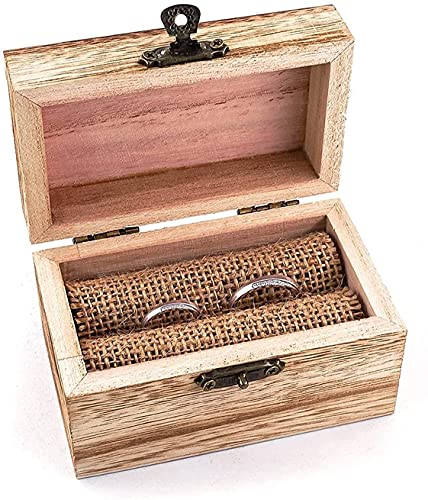 Joyería de recuerdo de la exhibición Organizador de la caja de anillos de madera personalizada Caja de portador para mujeres para cumpleaños de boda
