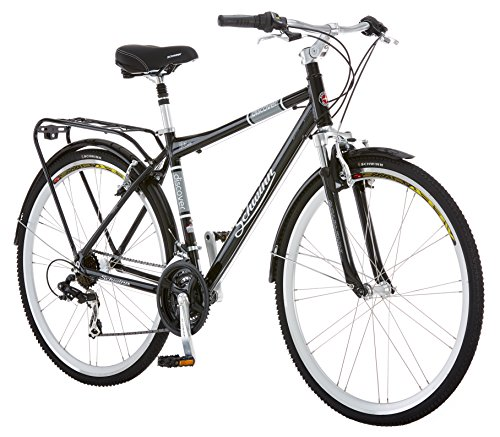 Schwinn Discover Hybrid Bikes for Men and Women, Featuring Aluminum City Frame, 21-Speed...