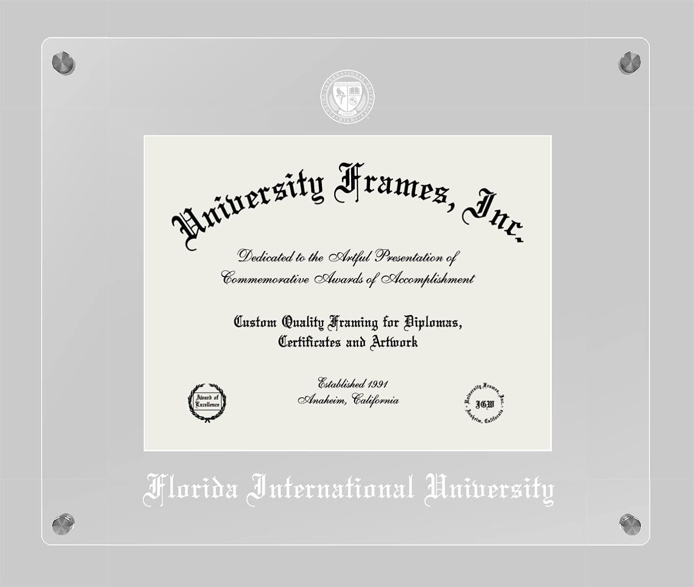Raleigh Mall Campus Images Lucent Clear Diploma Display Frame Super intense SALE