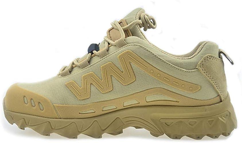 QIKAI Chaussures Militaires Et Bottes Forces Spéciales D'amortisseur Ultra-légères Et Coupe-bas Bottes De Combat Course à Pied, Randonnée En Camping, paniers à Vélo