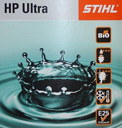 Stihl, HP Ultra, miscela per olio motore 2 tempi, rapporto miscela: 1:50 (1 misurino da 1 litro ogni 50 litri)