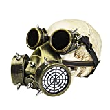 Amosfun Halloween Gas Mask Cosplay Costume Steampunk Dress Up Party Masquerade Gas Mask Halloween Supplies