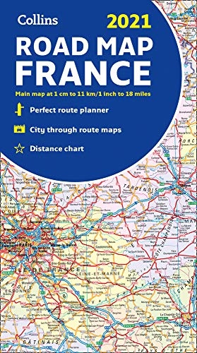 Map of France 2021