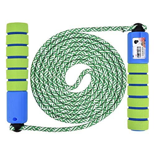 Linkbro Springseil Speed Rope Mit Zähler Und Komfortablen Anti-Rutsch Griffen, Leicht, Springseile Für Workout, Crossfit, Boxen, Training Und Fitness