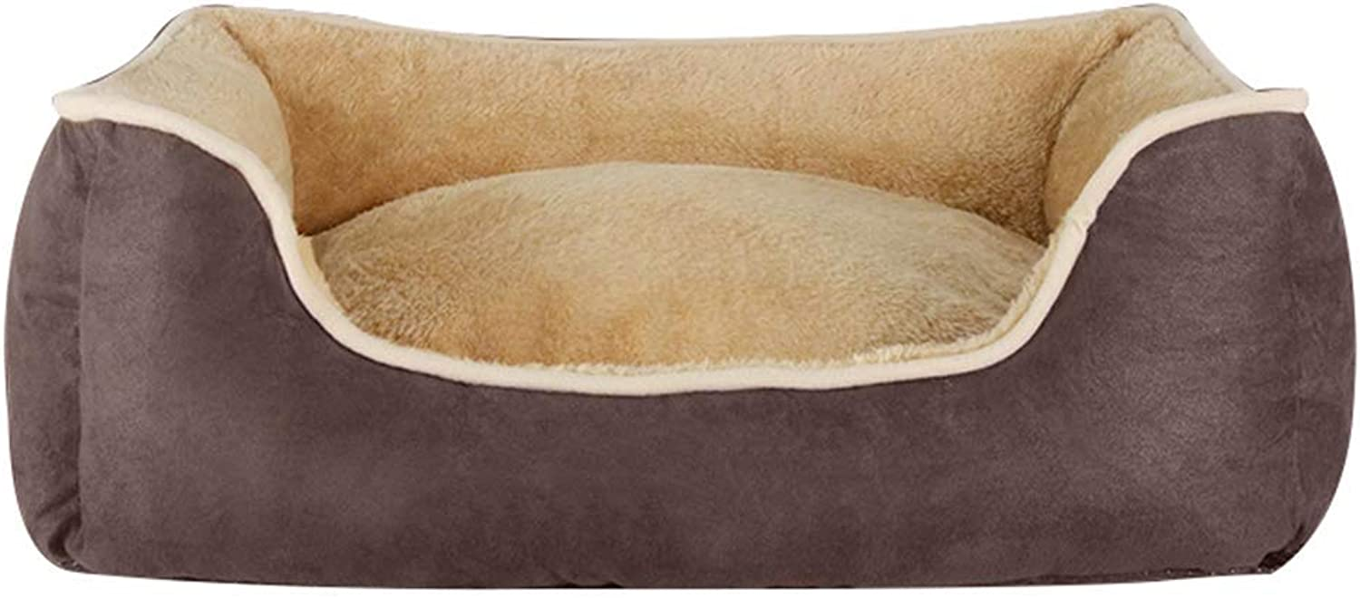 Desti Flakes Pet Bed Teddy Kennel Removable and Washable Four Seasons Universal Pet Mat Large Medium Small Pet Pad (color   Brown, Size   XL)