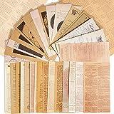 180 Hojas Papel Scrapbooking Vintage Decoración Material de Scrapbooking Manualidades Papel Decorativo Estilo Retro para Diario Bullet Journal Álbum de Recortes Fotos