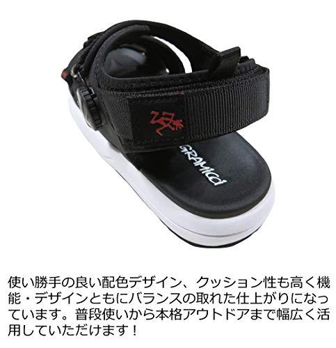[グラミチ]ダイヤルロックストラップスポーツサンダルGRF-00225cmBLACK(ブラック)
