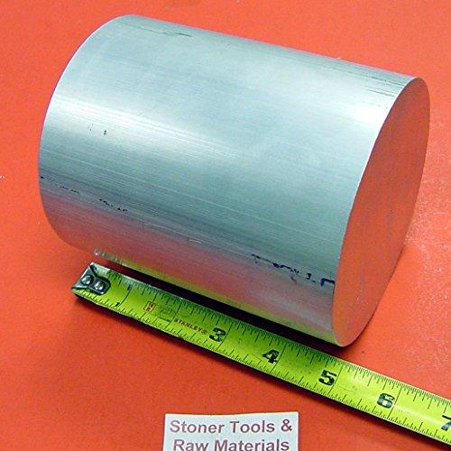 "6"" ALUMINUM 6061 ROUND ROD 5"" LONG T6511 6.00"" Diameter Solid Lathe Bar Stock"