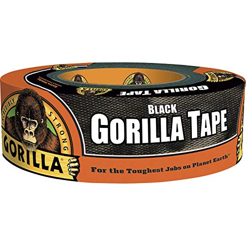 Gorilla Black Duct Tape, 1.88' x 35 yd, Black, (Pack of 1)