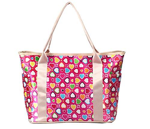 iSuperb handtassen dames waterdichte hengseltassen meerdere zakken binnentas handtas 37 x 29 x 16 cm Rozenhart