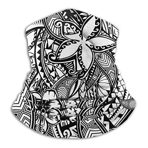 BDGAjdka Hawaiian Polynesian Trbal Tatoo Print Unisex Nahtloses Bandana, Gesicht Multifunktionshals Gamasche Kopfbedeckung