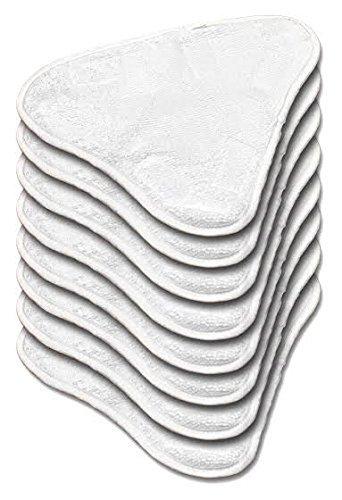 Microfaser Ersatz pads für Dampfreiniger 6 Stück (auswaschbar) für H20, Verkaufsverpackung inklusive Ersatzteilen H20 X5.