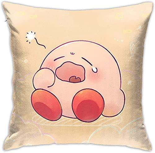 SHAA Funda de almohada de Kirby, cómoda y suave, funda de almohada de sofá, funda de almohada de oficina, funda de almohada de coche, funda de almohada de impresión de doble cara