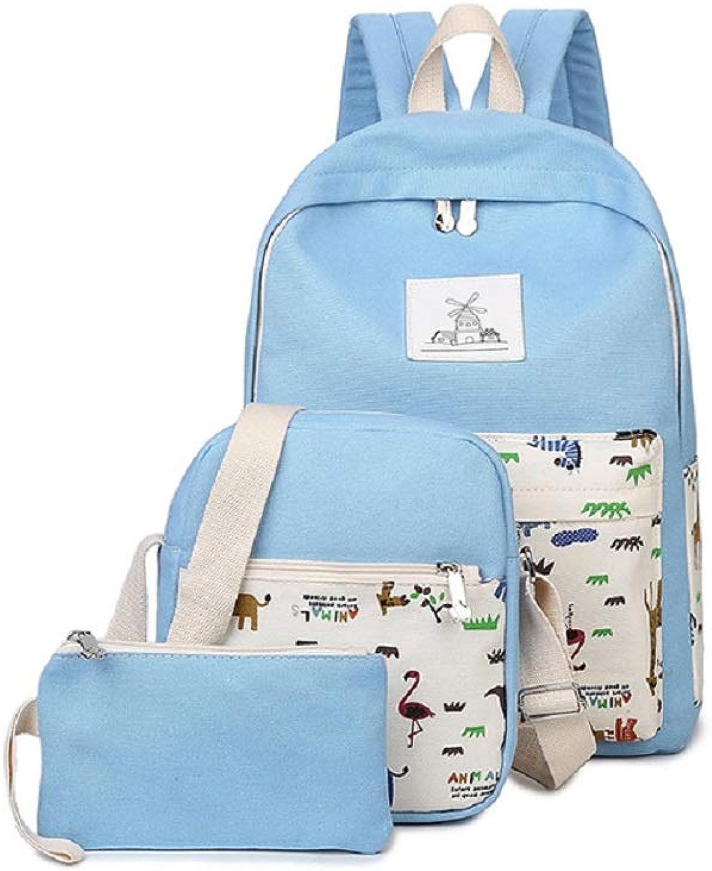 Qiusa Tier Jungen Schulrucksack Kinder Schule Rucksack Tarnung Tasche Sports Rucksack mit der Großen Kapazität Blau (Farbe   Blau) B07G5R8S8J | Zart