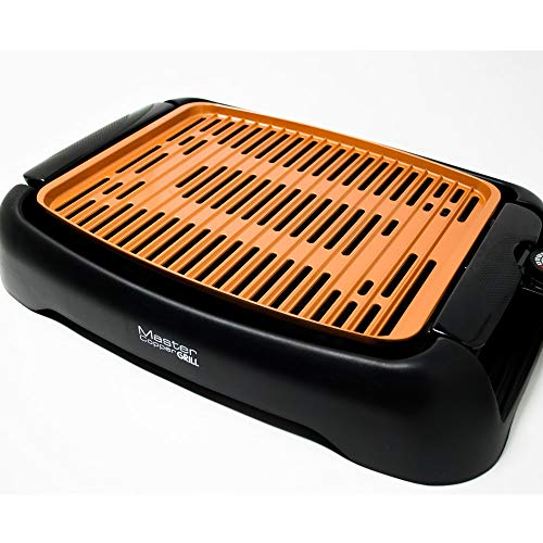 Griglia elettrica MASTER COPPER GRILL per cucinare senza fumo e senza odori 1250 WATT