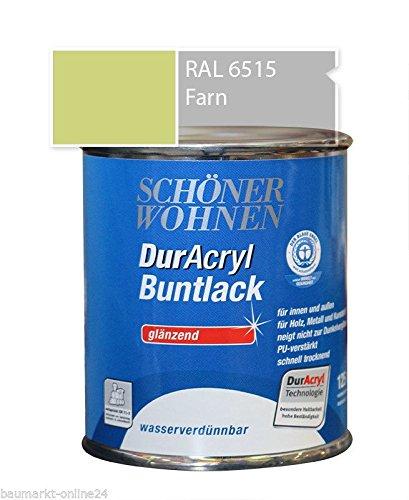 DurAcryl Buntlack Farn 375 ml RAL 6515 Glänzend Schöner Wohnen
