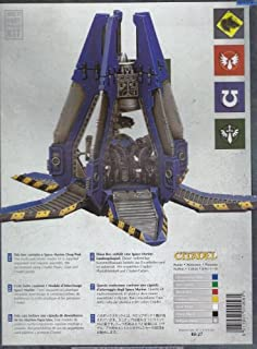 """GAMES WORKSHOP 99120101069"""" Space Marine Drop Pod Tabletop and Miniature Game"""
