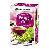 Bad Heilbrunner Basisch Vital Tee im Filterbeutel, 5er Pack (5 x 20 Filterbeutel)