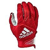 adidas Freak 5.0 Padded Football Receiver Glove, Red/White, Medium