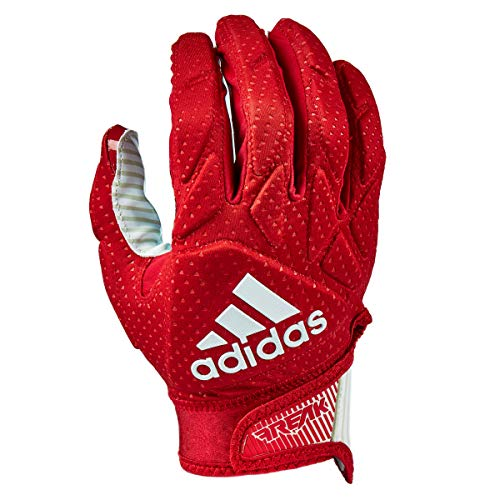 adidas Freak 5.0 Padded Football Receiver Glove, Red/White, 2X-Large