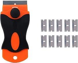 IKAAR Kookplaat Schraper voor Keramische kookplaten Multifunctionele Scheermes Schraper met 10 stks 4 CM Blade, Auto Stick...
