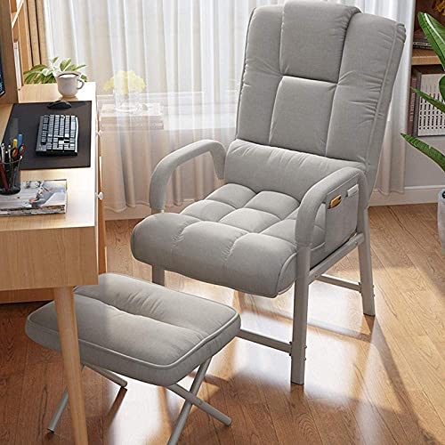 WGFGXQ Gravity Garden Reclining,Office Chair, Gaming Chair Swivel Chair for Adults, Computer Desk Chair with Footrest-Gray