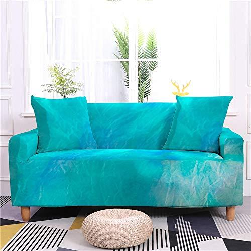 Rainbow Color - Funda de sofá elástica y antideslizante para salón o sofá, con forma de L, 1/2/3/4 plazas, Sf020-7., 4- Seater 235-300cm