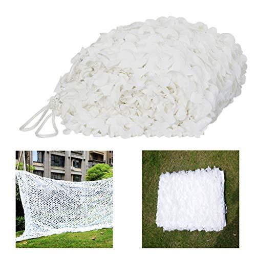 Hunting Decoration Netting Camo Netting,Camouflage Net White Umbrace Net Garden Awning,Shade Cloth,Decorative Tent 3x4m 5m 6m (Size : 10 * 20m)