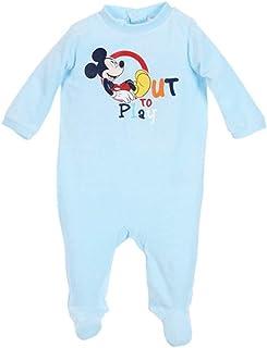 f44abc3f86837 Pyjama Velours bébé garçon Mickey Disney Bleu et Vert de 3 à 23mois