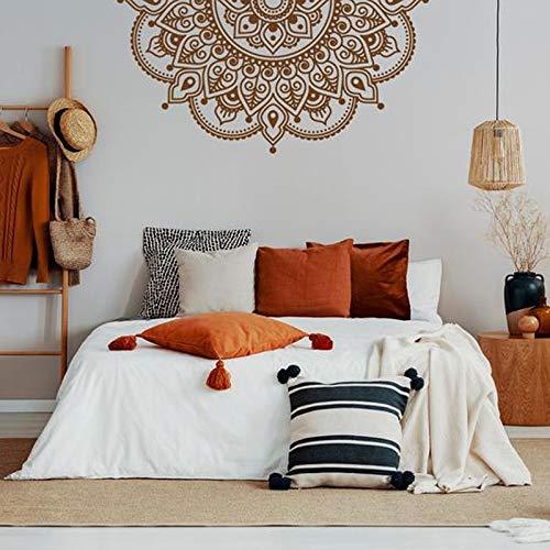 Mandala etiqueta de la pared impermeable etiqueta de la pared Yoga Studio decoración dormitorio cabecera extraíble Mandala pegatinas A4 57x28cm