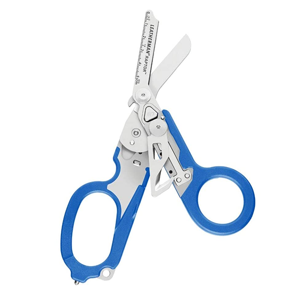 LEATHERMAN - Raptor Emergency Response Shears with Strap Cutter and Glass Breaker, Blue with MOLLE Compatible Holster