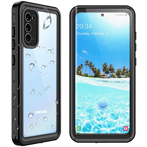 SPIDERCASE Samsung Galaxy S20 Waterproof Case, Built-in Screen Protector Fingerprint Unlock with Film, Shockproof Full Body Cover IP68 Waterproof Case for Samsung Galaxy S20 6.2 inch 2020