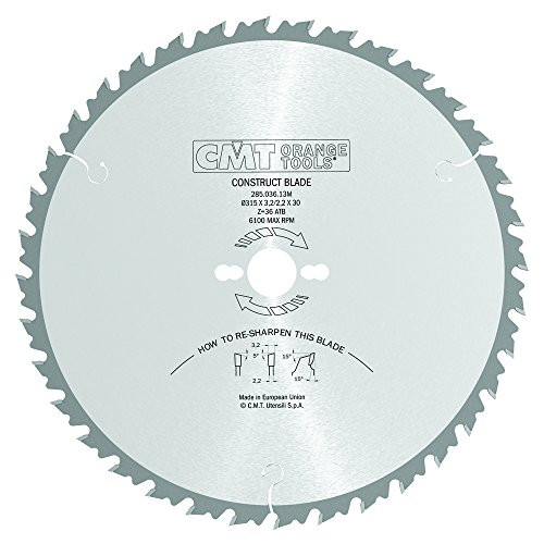 CMT Orange Tools 285,036,13 m scie circulaire 315 x 30 x 3,2 z 36 atb 15 degrés