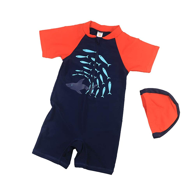 男の子の水着 ボーイ水着子供サーフィンクイックドライスパシーサイド水着 水着水着 (サイズ : M)