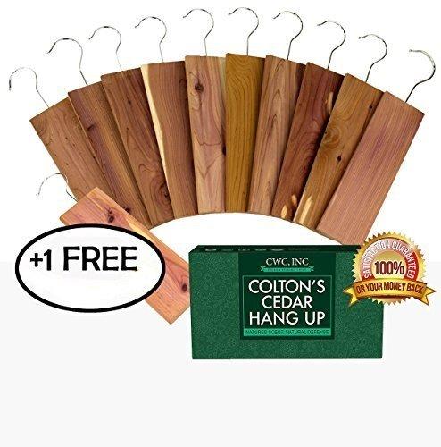 11 Pack Moth Protection Cedar Hang Up Closet Light Cedar Aroma Protection Large Size (9