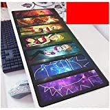 Rick and Morty Gaming Mouse Pad XXL Large Mouse Mat Keyboard Mat Extended Mousepad for Computer Desktop PC Laptop Mouse Pad (Color : J, Size : 800x300x3mm)