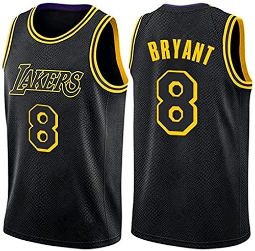 NBA Lakers Kobe Bryter # 8 Retro Fitness Chalt Sports Top, Purple, L, Schwarz - XL