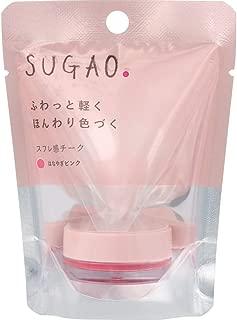 【2019年春発売】スガオ(SUGAO) スフレ感チーク はなやぎピンク 光を味方にするトーンチェンジパウダー配合 4.8g